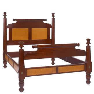 The American Empire Bed from 45 degree angle to Footboard