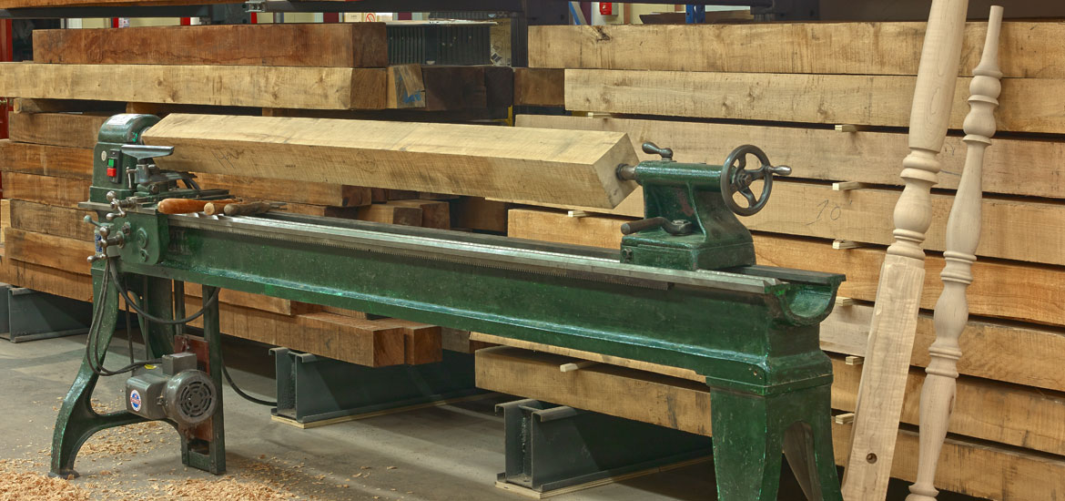 Picture of Solid Wood in Lathe